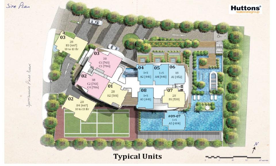 Spottiswoode Suites Siteplan