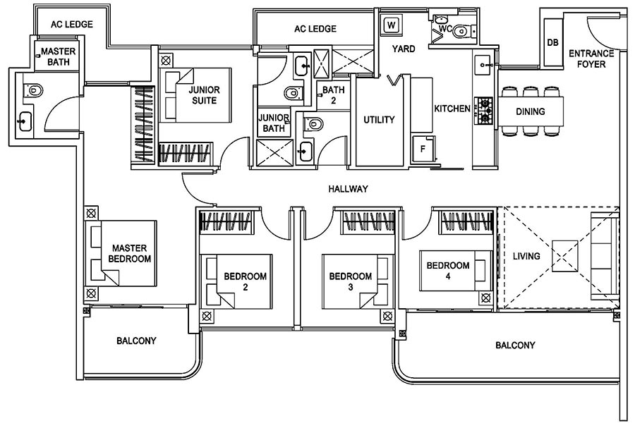 Hundred Palms Residences Condo Singapore 5 Bedroom Floor Plan