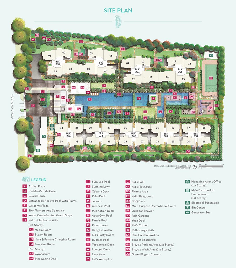 Hundred Palms Residences Condo Singapore Site Plan