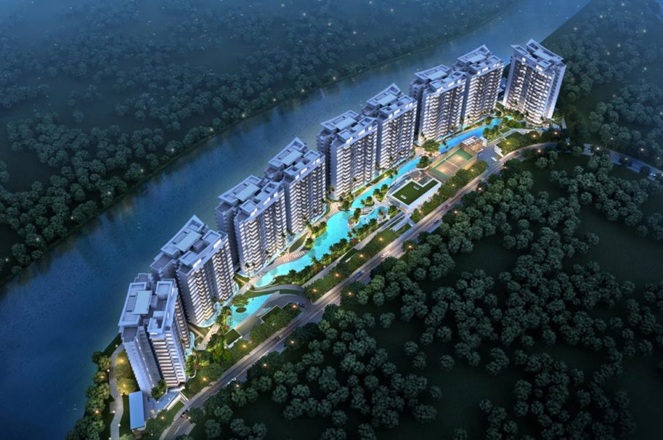 Kingsford WaterBay Condo Singapore Aerial Shot