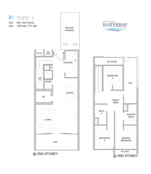Kingsford WaterBay Condo Singapore Floor Plan Penthouse Type 1