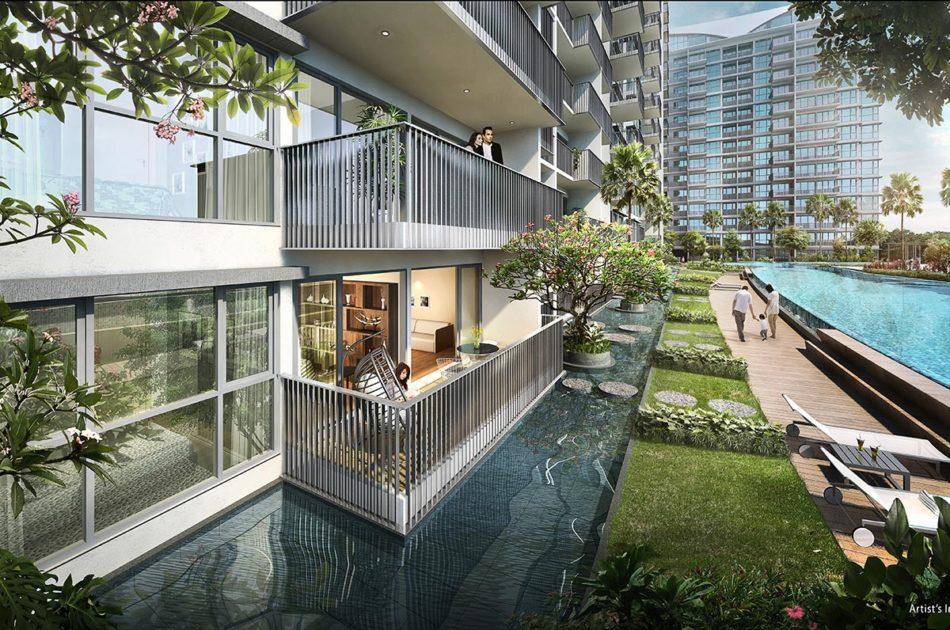 Kingsford WaterBay Condo Singapore Sidewalk